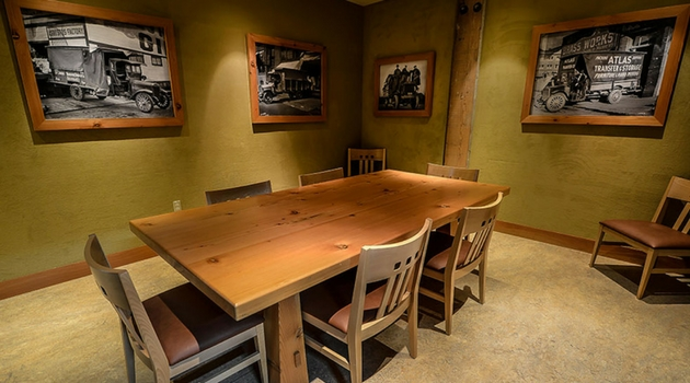 Wine tasting room at Rose City Self Storage & Wine Vaults
