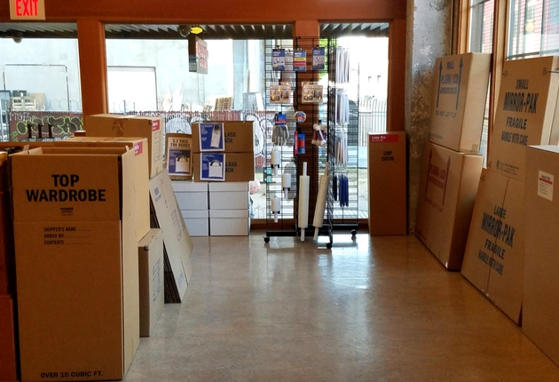 Photo of moving boxes for sale at Rose City Self Storage & Wine Vaults in Portland, OR