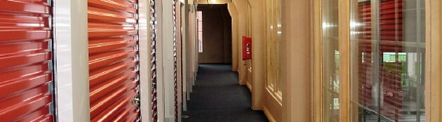 Photo of carpeted hallway at Rose City Self Storage & Wine Vaults Portland, OR